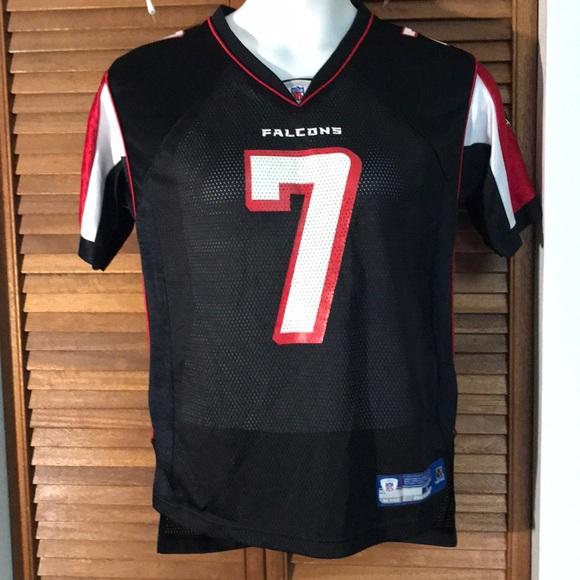 Michael Vick 7 Falcons Reebok on field jersey YL e7ccba90e